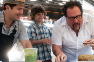 Stars Jon Favreau, Emjay Anthony and John Leguizamo in Chef