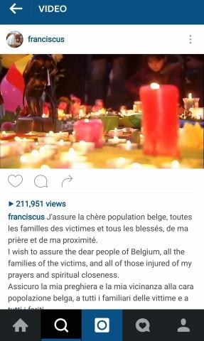 Belgium-video-Instagram-Franciscus