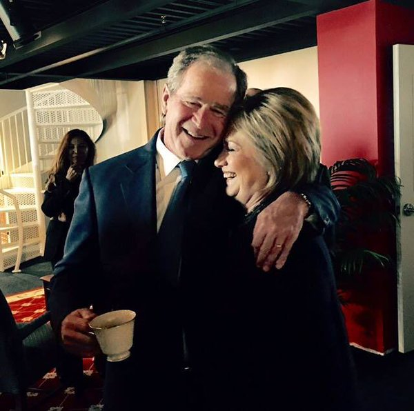George-Bush-Hillary-Clinton